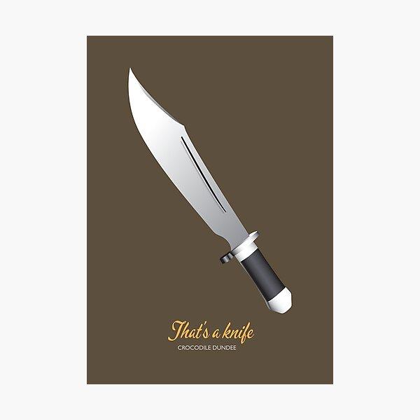 Crocodile Dundee - Alternative Movie Poster Photographic Print