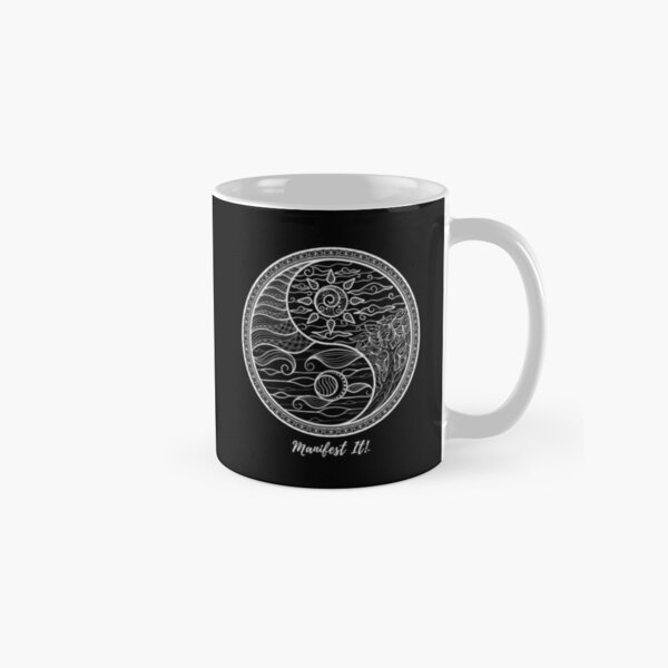Manifest It! Yin Yang Black & White Classic Mug