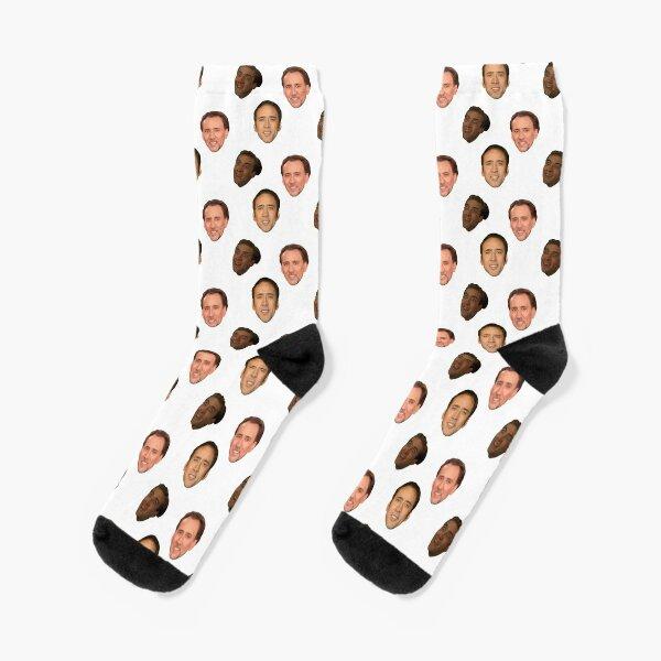 nicholas cage pattern Socks