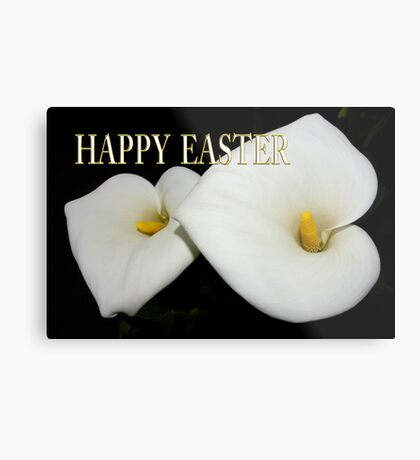 classic calla lilies easter card Metal Print