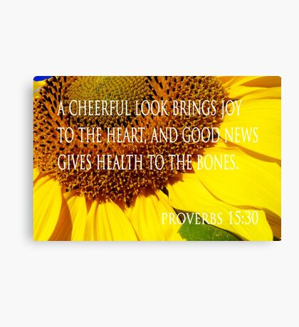 cheerful look sunflower card Canvas Print