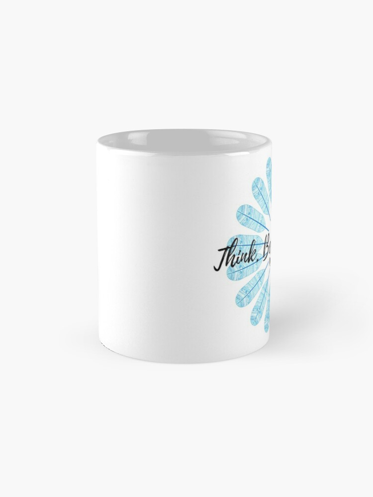 Alternate view of Manifest It! Think Believe Receive Blue Mug