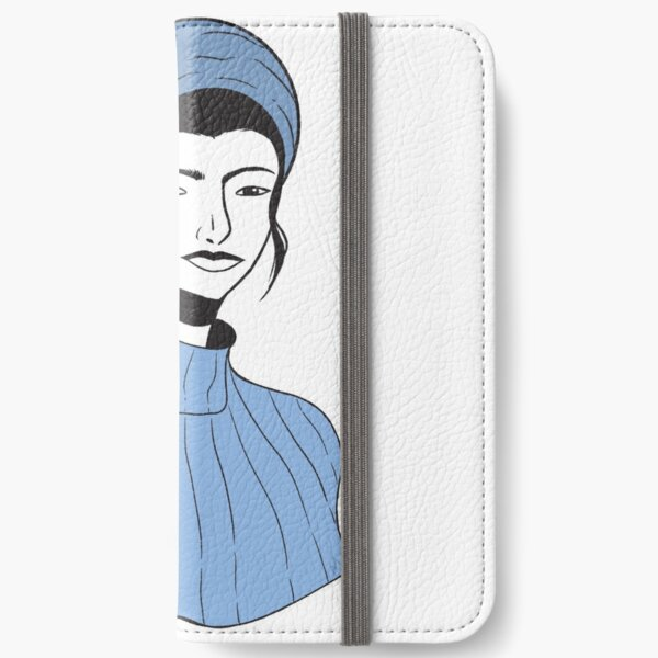 Blue Turtleneck  iPhone Wallet