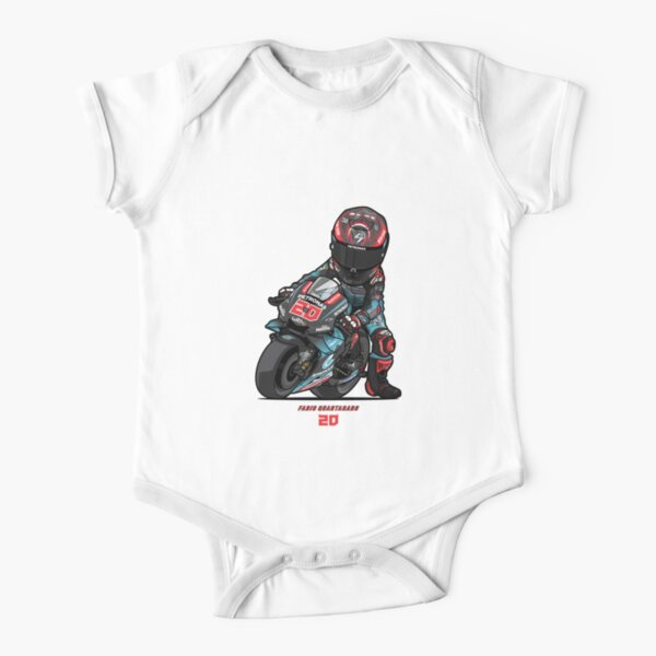 PETRONAS YAMAHA SRT TEAM MOTO GP - FABIO QUARTARARO V - 3 Short Sleeve Baby One-Piece