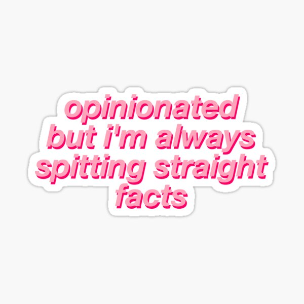 MARK JOPPING OPINIONATED Sticker