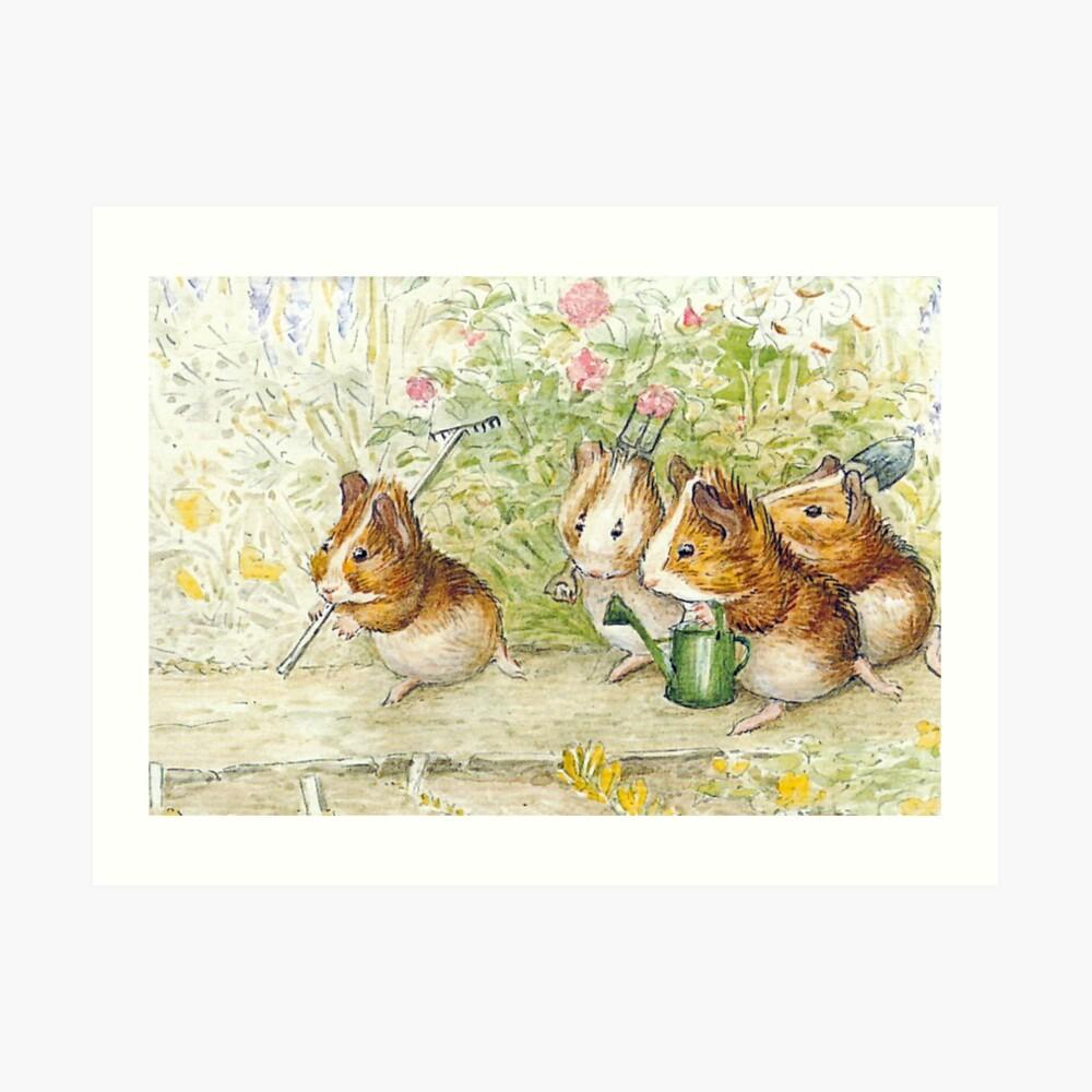 Guinea Pig Gardeners - Beatrix Potter Art Print