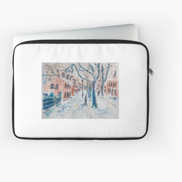 Snowy Manchester Street Laptop Sleeve