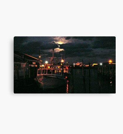 Moon Over Galilee - Rhode Island Canvas Print