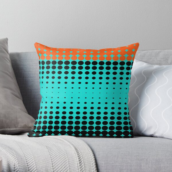#metal #pattern #texture #abstract #steel #metallic #black #grid #hole #mesh #iron #design #textured #wallpaper #surface #gray #technology #material #backgrounds #round #seamless #circle #backdrop Throw Pillow