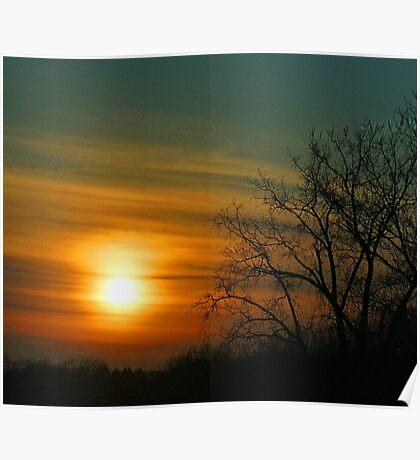 Minnesota Winter Sunset Poster