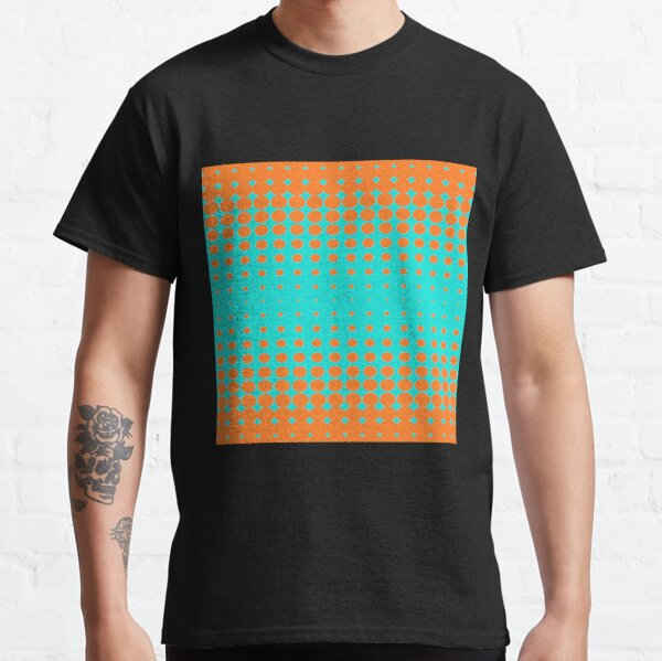 #metal #pattern #texture #abstract #steel #metallic #black #grid #hole #mesh #iron #design #textured #wallpaper #surface #gray #technology #material #backgrounds #round #seamless #circle #backdrop Classic T-Shirt