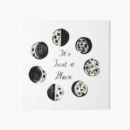 Moon Phase  Art Board Print