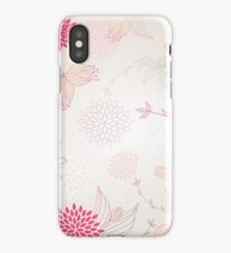 Pastel flowers background iPhone Case