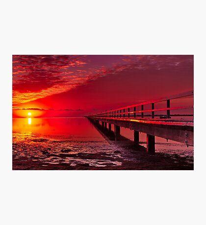 """""""Swan Bay Red"""" Photographic Print"""
