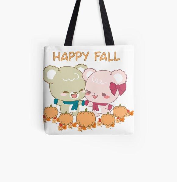Sugar Cubs Happy Fall All Over Print Tote Bag
