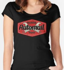 Rockbell Automail Repair Women's Fitted Scoop T-Shirt