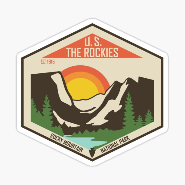 Rocky Mountain National Park- The Rockies Sticker