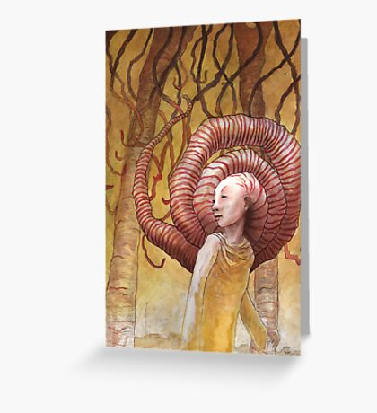 Forest of Angled Brains Greeting Card