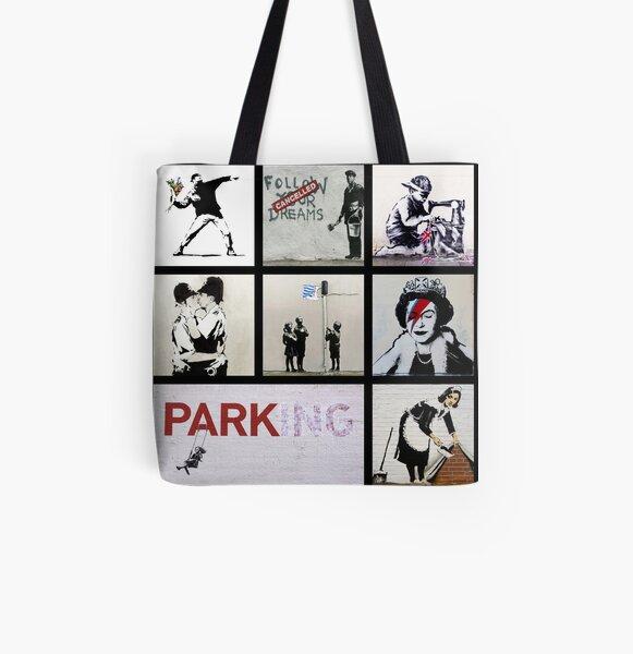 Banksy Montage 01 | Various Banksy Artworks  All Over Print Tote Bag