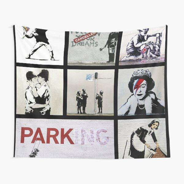 Banksy Montage 01   Various Banksy Artworks  Tapestry