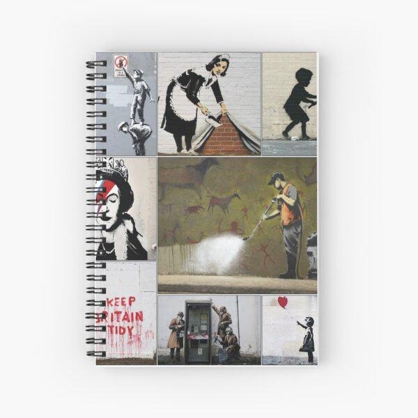 Banksy Merchandise, Banksy Art Montage 05 Spiral Notebook
