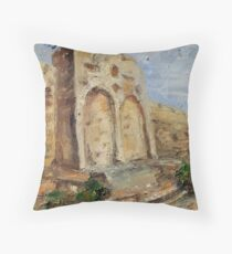 The Gates of Mercy and Truth Throw Pillow