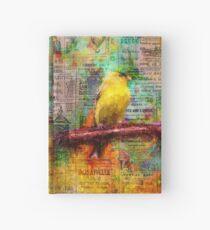 Newsprint Songbird Hardcover Journal