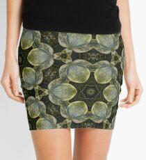 Textured Green Leaves Mini Skirt