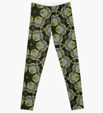 Textured Green Leaves Leggings