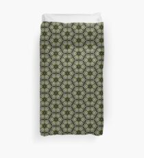 Textured Green Leaves Duvet Cover