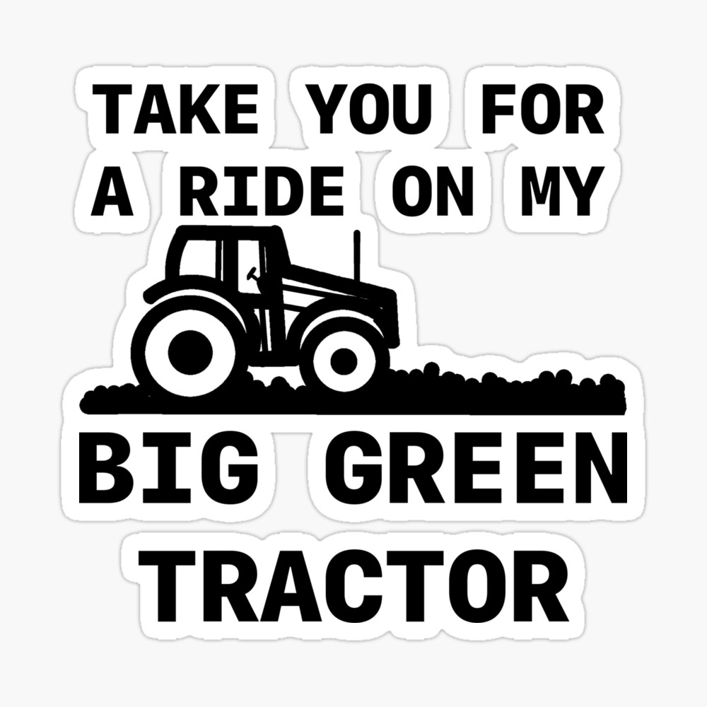 Big Green Tractor Photographic Print By Giglet Redbubble