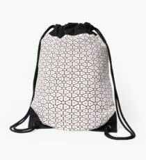 Red, grey and lace Drawstring Bag