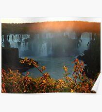 sunset at Iguassu Falls Poster