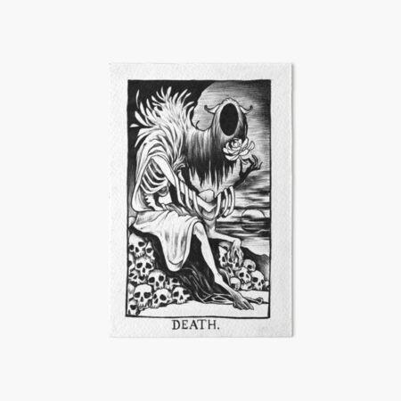 Death Tarot Card Art Board Print