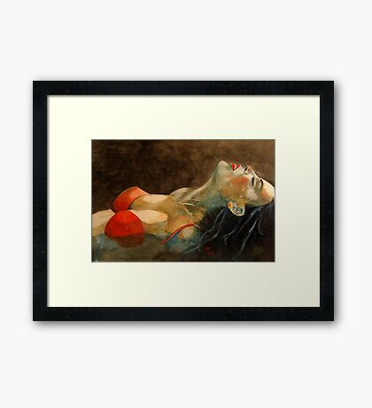 Soutien-gorge rouge  Framed Print