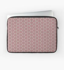 Plush Red Floral Laptop Sleeve