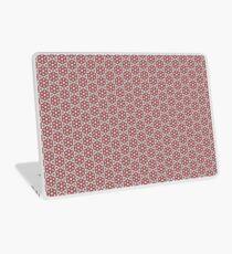 Plush Red Floral Laptop Skin
