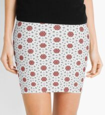 Lace Flowers on Grey Mini Skirt