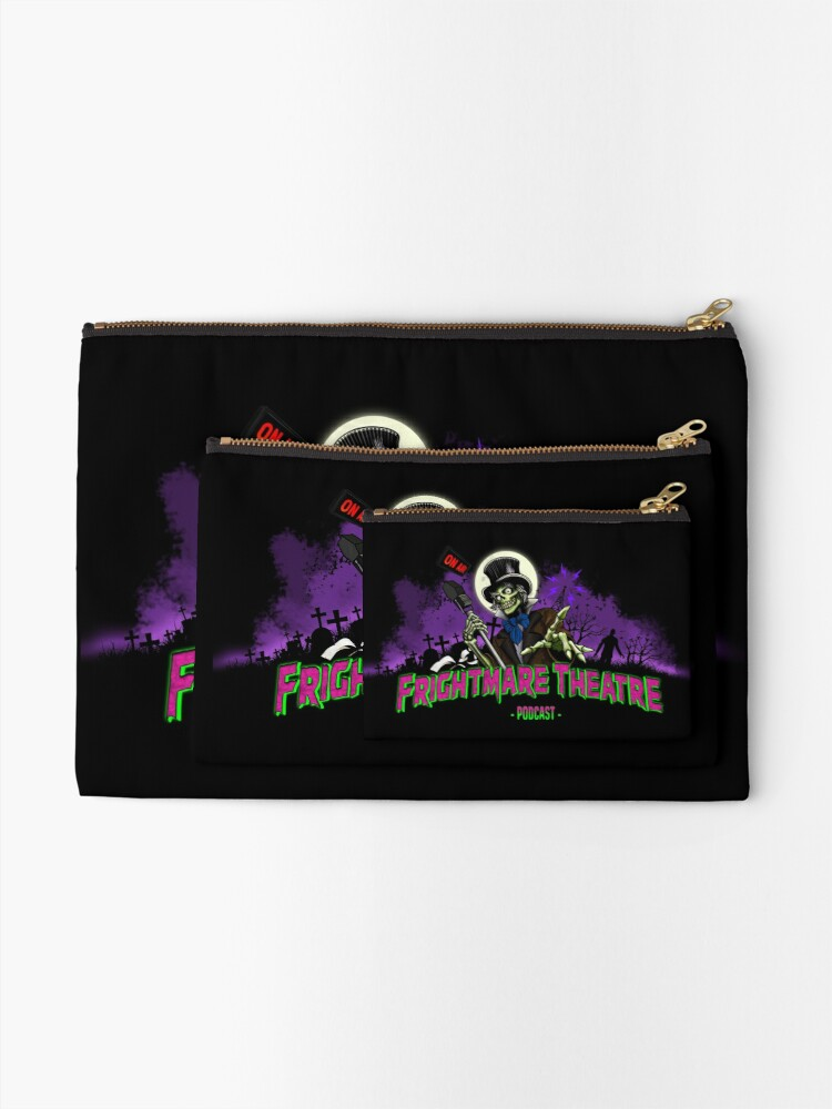 Alternate view of FRIGHTMARE THEATRE PODCAST MAIN Zipper Pouch