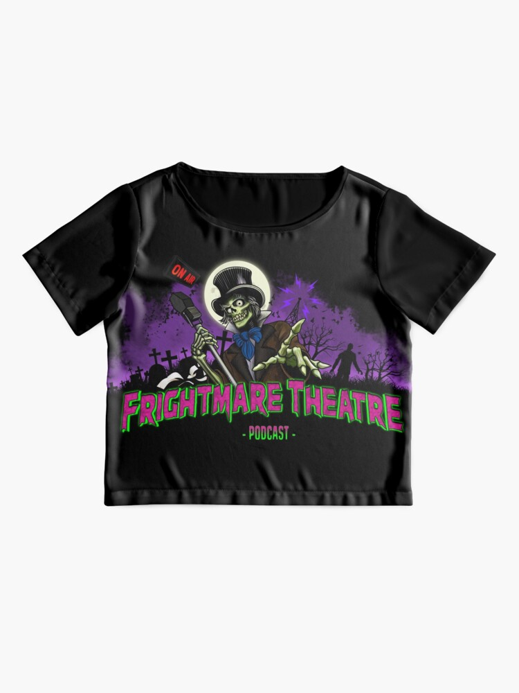 Alternate view of FRIGHTMARE THEATRE PODCAST MAIN Chiffon Top