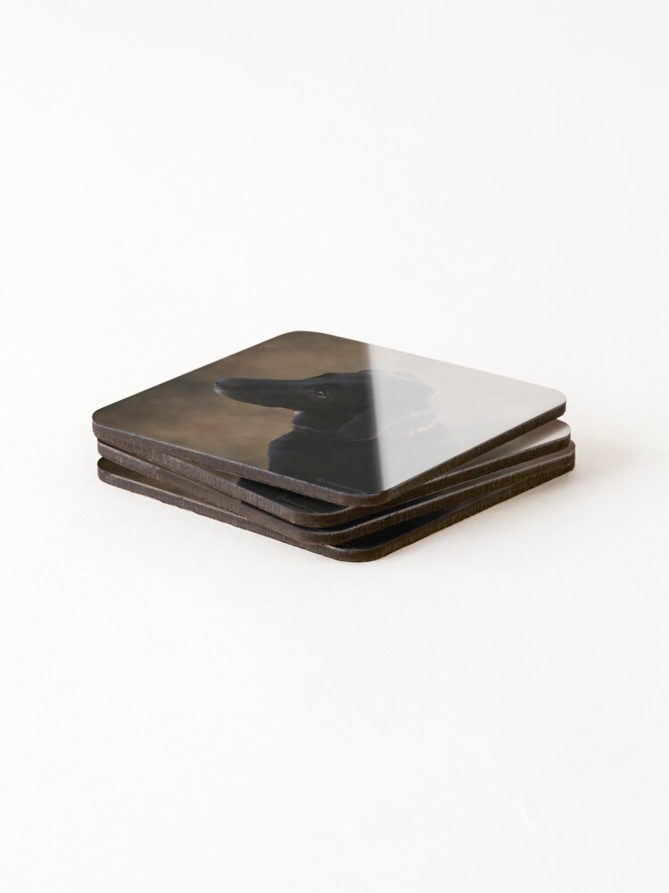Alternate view of Reilly the Black Lab Coasters (Set of 4)