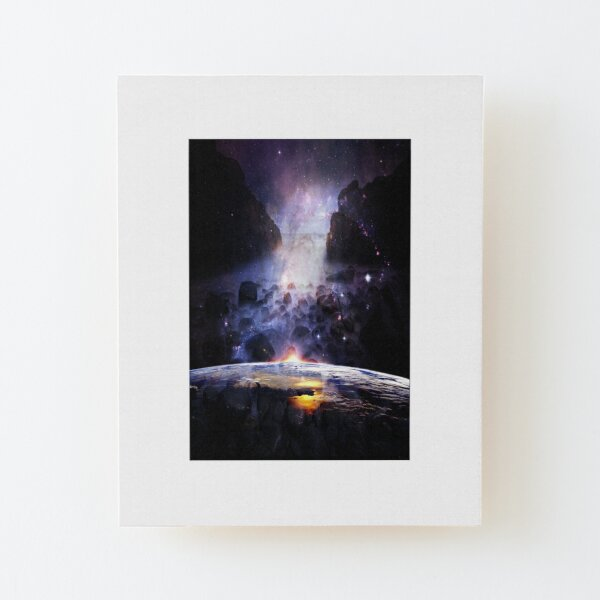 Sea and Mysterious Wood Mounted Print