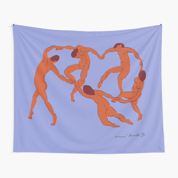 Henri Matisse - La Danse (The Dance) - Artwork Reproduction for - Wall Art, Prints, Posters, Canvas, Tshirts, Men Women Youth Tapestry