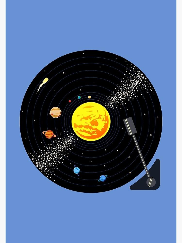 Solar System Vinyl Record by jezkemp
