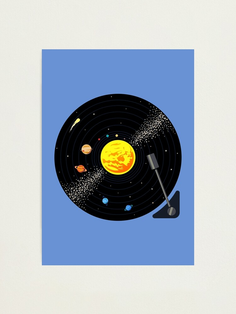 Alternate view of Solar System Vinyl Record Photographic Print