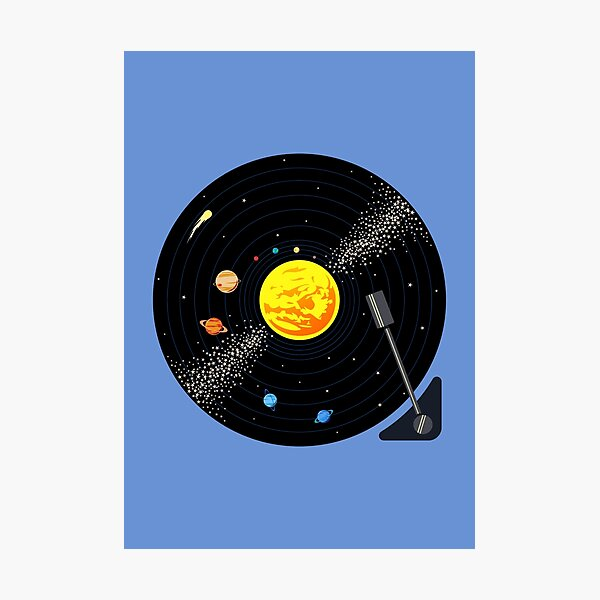 Solar System Vinyl Record Photographic Print