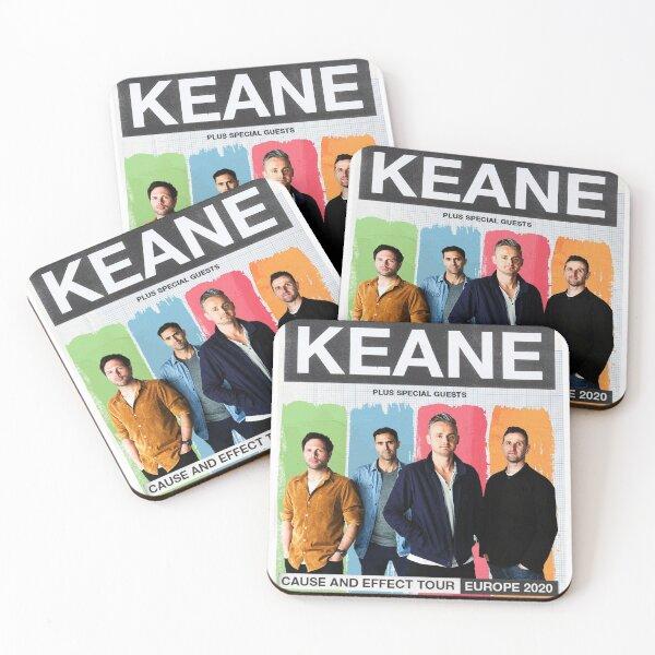 keane cause and effect tour 2020 boyolali Coasters (Set of 4)