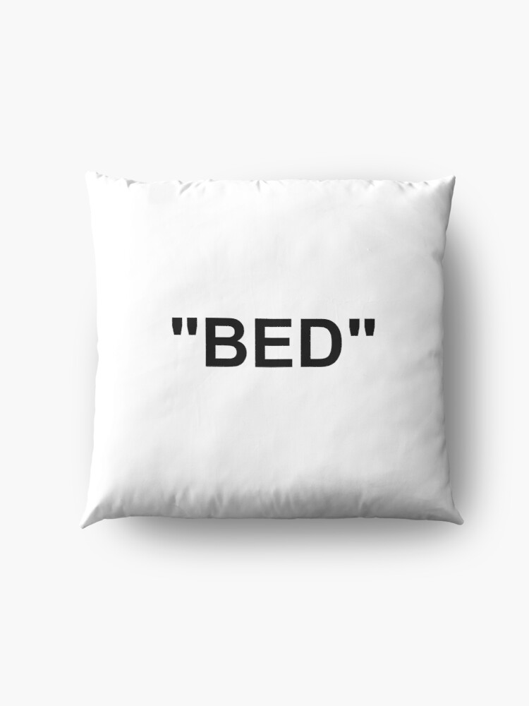 Alternate view of Bed Off White Bed Sheet  Floor Pillow