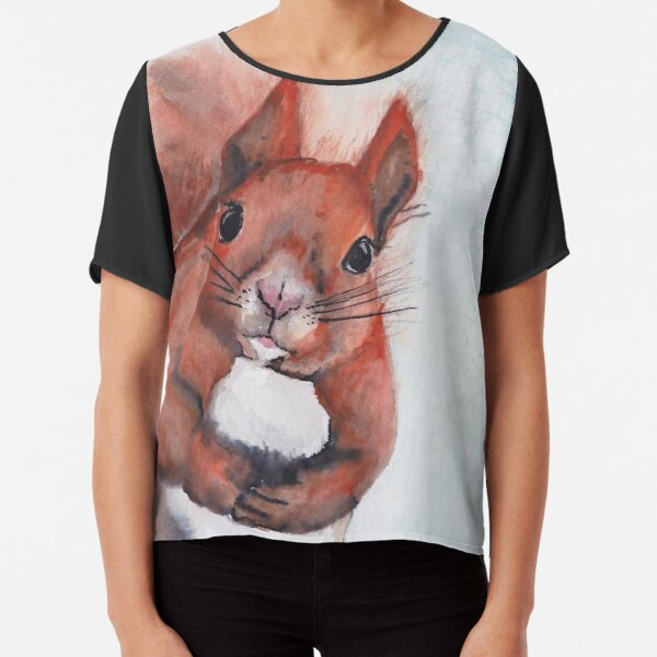 Squirrel I Chiffon Top