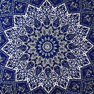 Andalusia Blue Alhambra Traditional Moroccan Artwork  by Arteresting